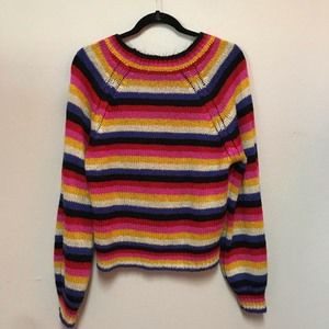Cloud Chaser Striped multi color Sweater